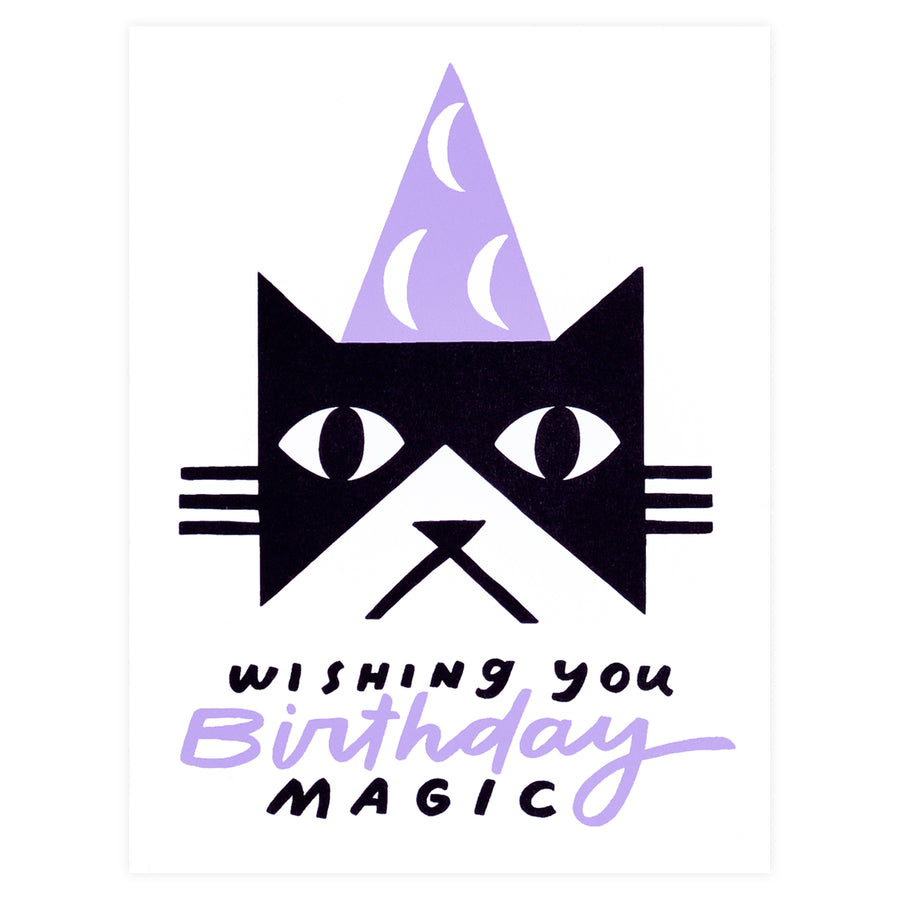 Worthwhile Paper Birthday Magic Black Cat - GREER Chicago Online Stationery Shop