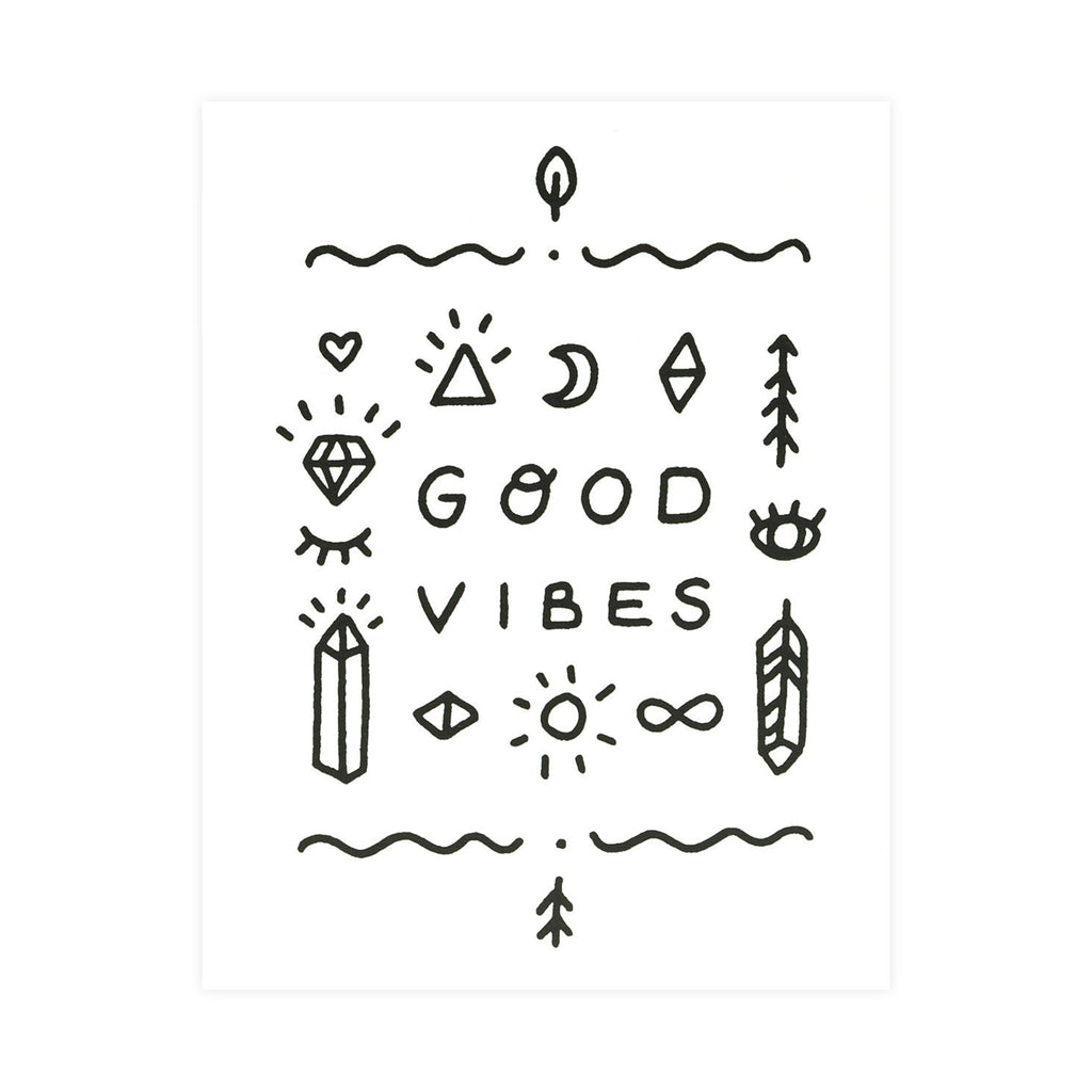 Worthwhile Paper Good Vibes Only Totem Greeting Card
