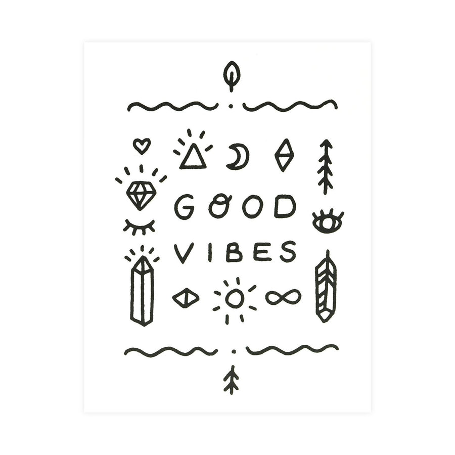 Worthwhile Paper Good Vibes Only Totem Greeting Card - GREER Chicago Online Stationery Shop