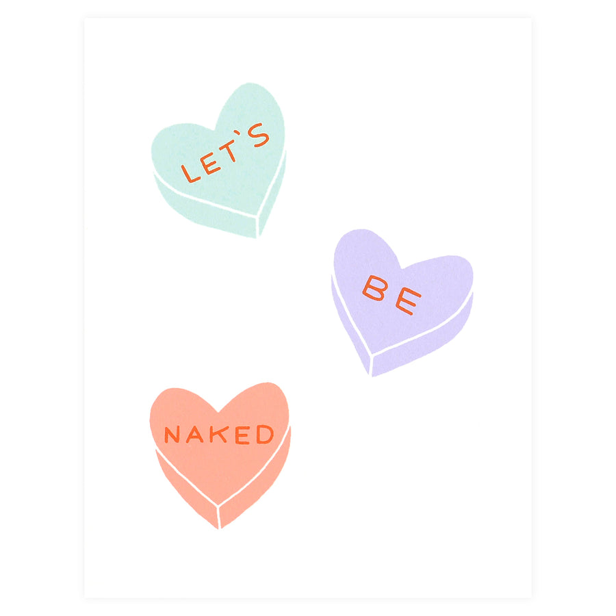 Worthwhile Paper Let's Be Naked Hearts Valentine's Day Card