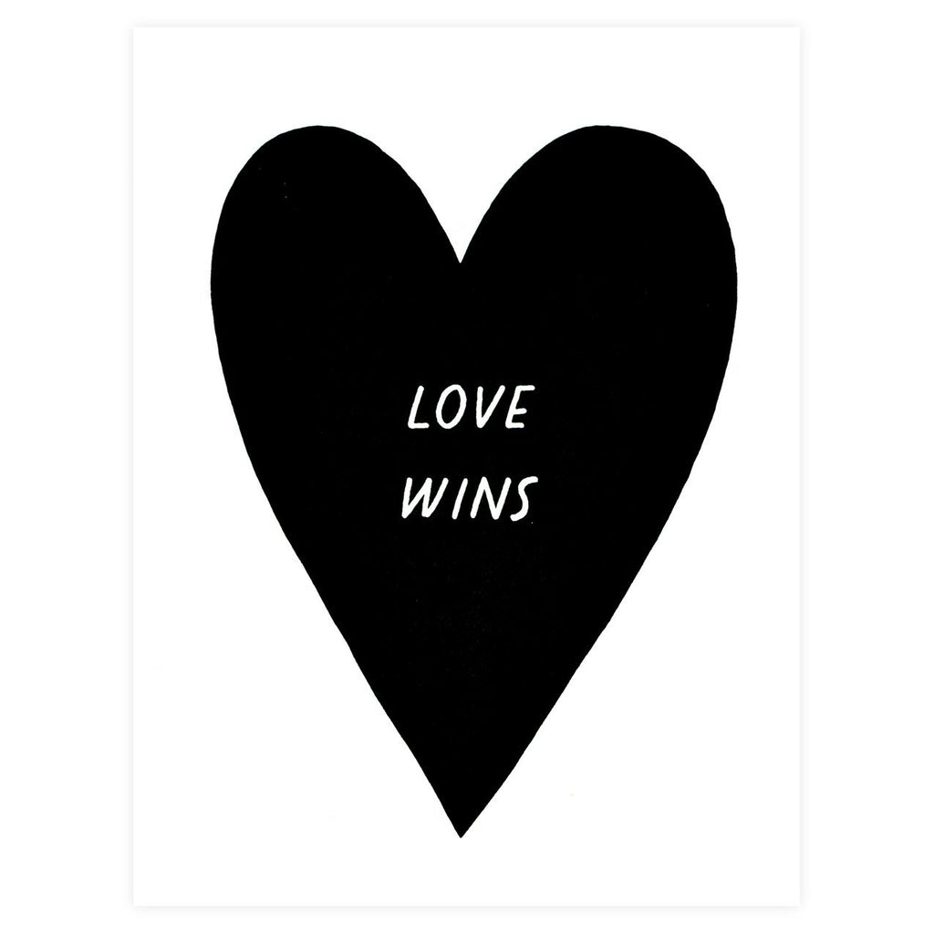 Worthwhile Paper Love Wins Greeting Card