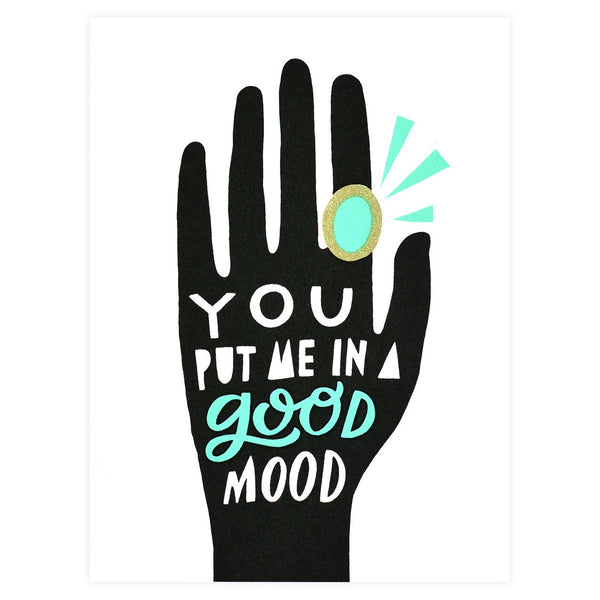 Mood Ring Greeting Card By Worthwhile Paper