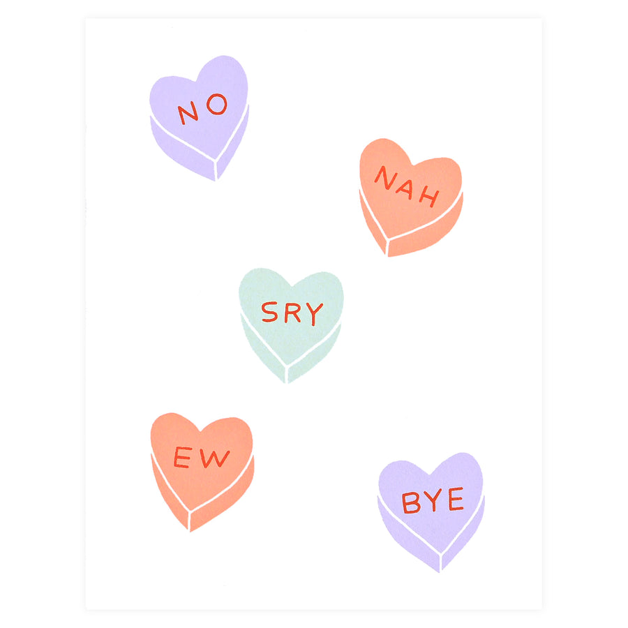 Worthwhile Paper Rejection Hearts Valentine's Day Card