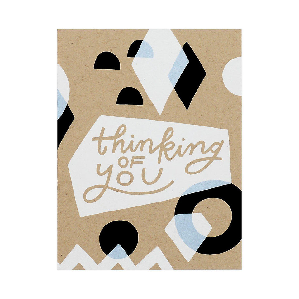 Worthwhile Paper Thinking of You Geometric Greeting Card