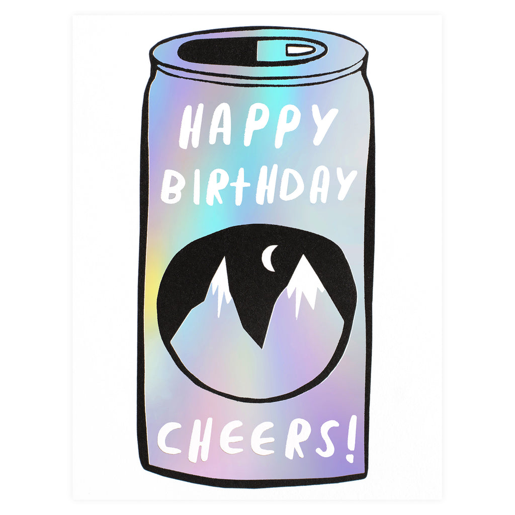 Wrap Beer Can Birthday Card