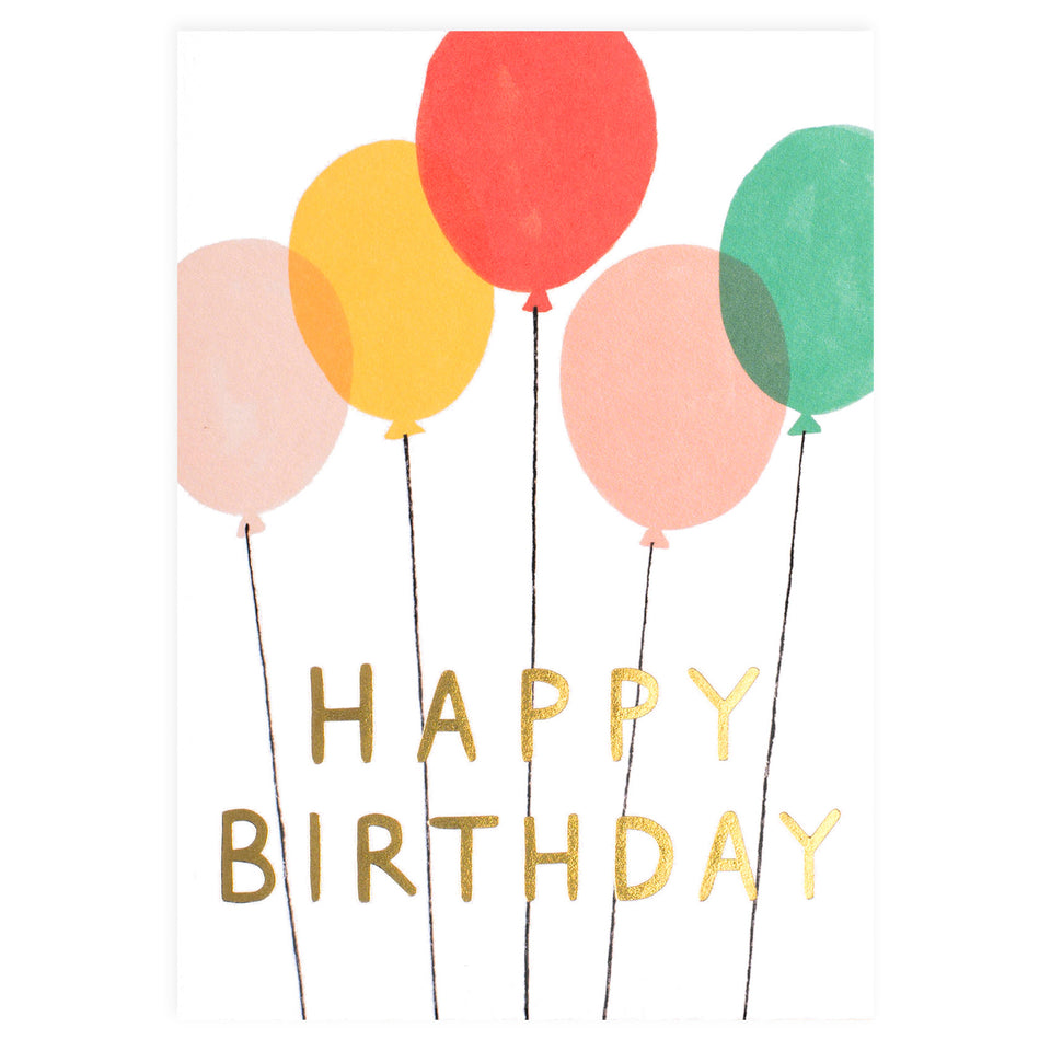 Wrap Happy Birthday Balloons Greeting Card