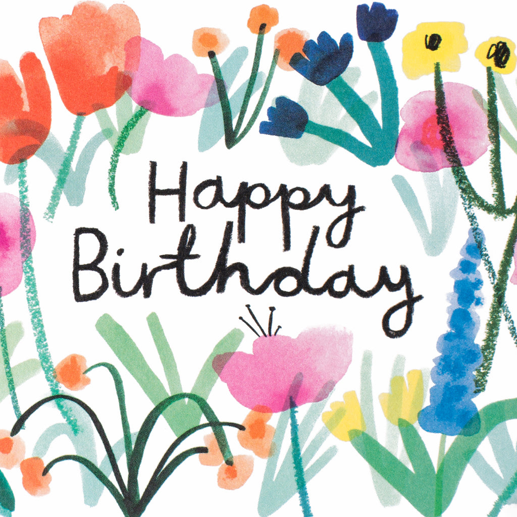 Wrap Happy Birthday Floral Card