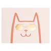 Wrap Cat with Shades Greeting Card