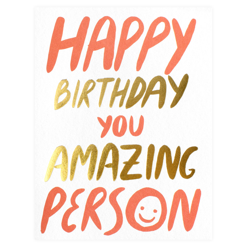 Wrap Amazing Person Birthday Card