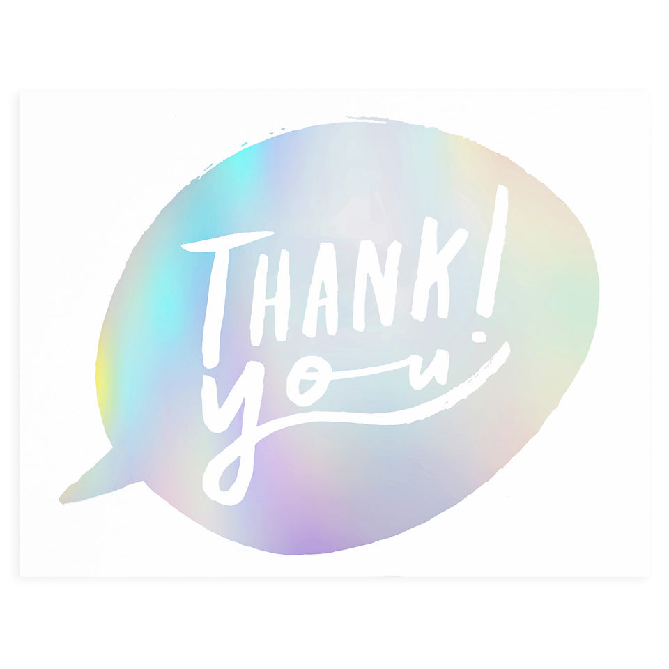 Wrap Thank You Bubble Greeting Card