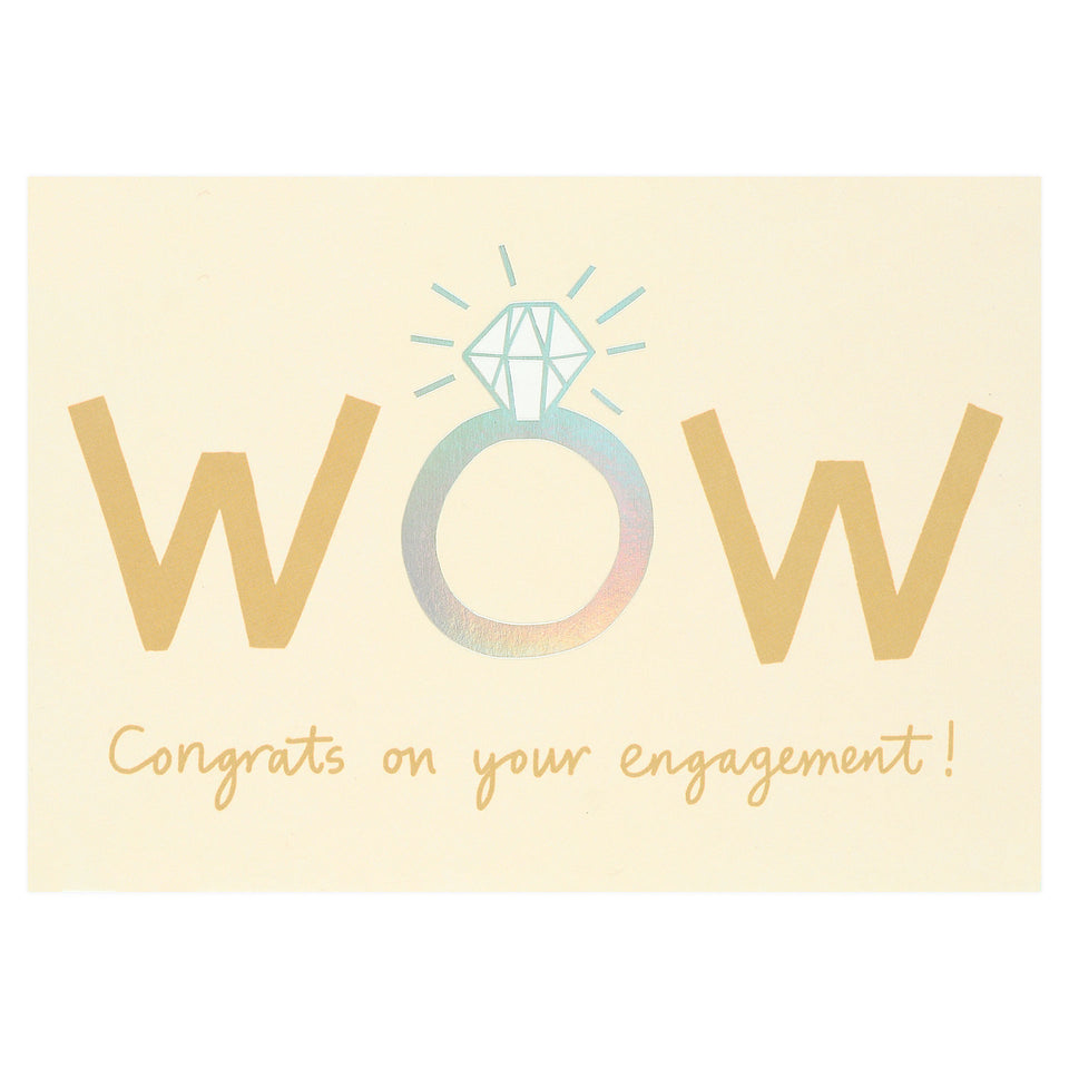 Wrap Wow Engagement Card