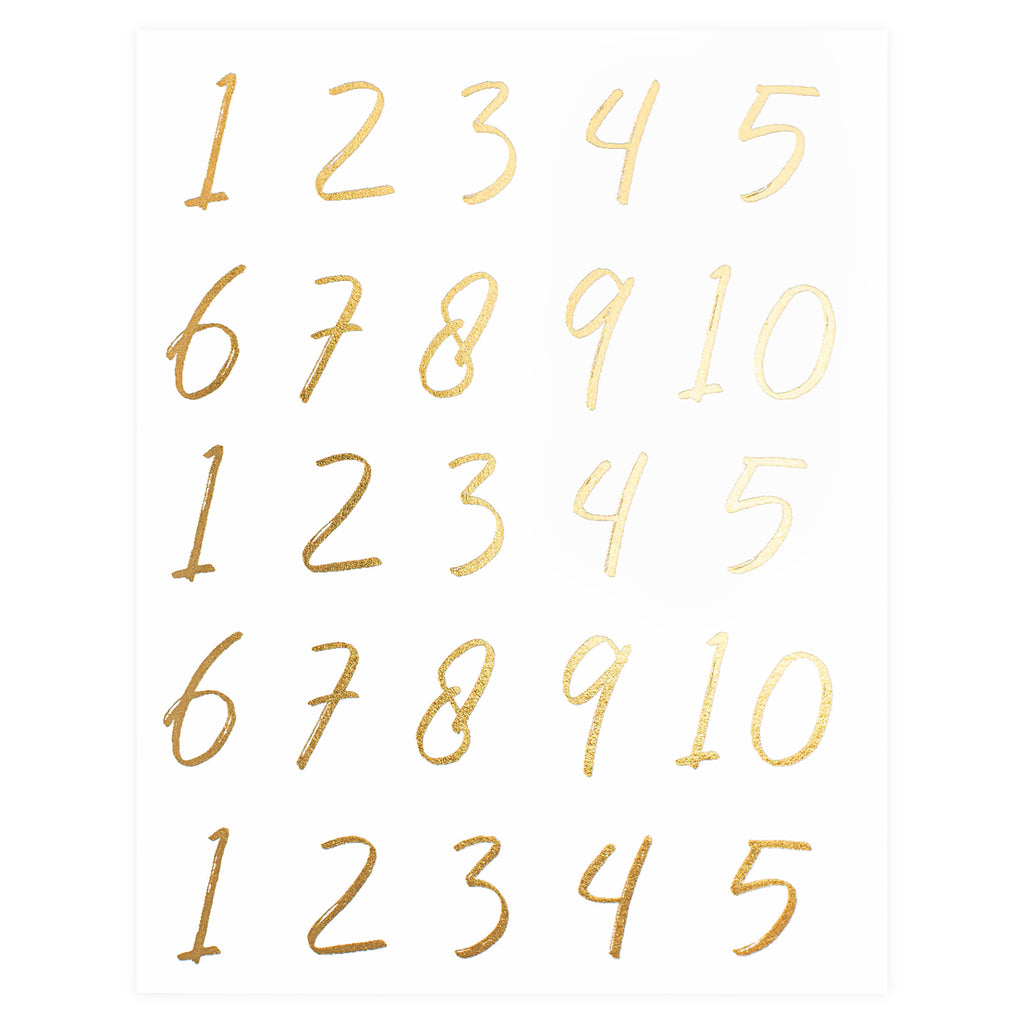 Wrinkle and Crease Numbers Greeting Card