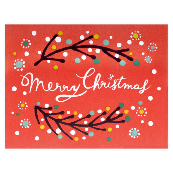 Merry Christmas Red Boxed Holiday Cards By Xenia Taler