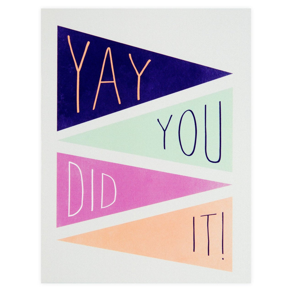 Yay You Did It! Congratulations Card By Pei Design - 1