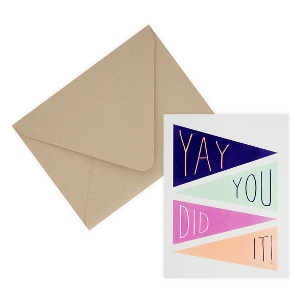Yay You Did It! Congratulations Card - GREER Chicago Online Stationery
