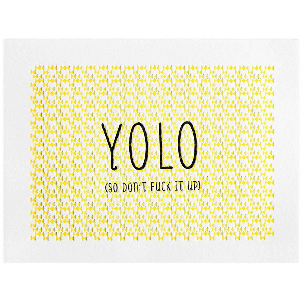 YOLO - GREER Chicago Online Stationery