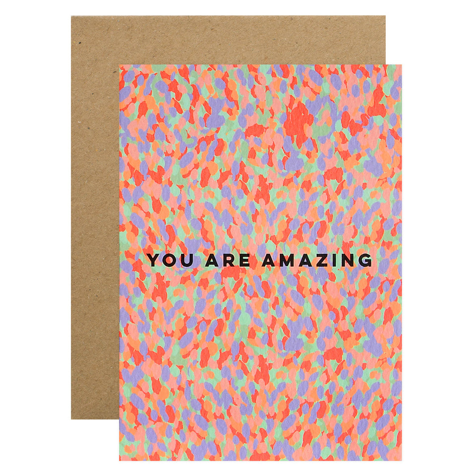 The Completist You Are Amazing Confetti Greeting Card