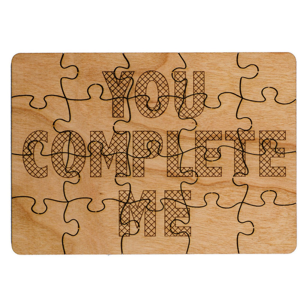 You Complete Me Wood Puzzle Card - GREER Chicago Online Stationery