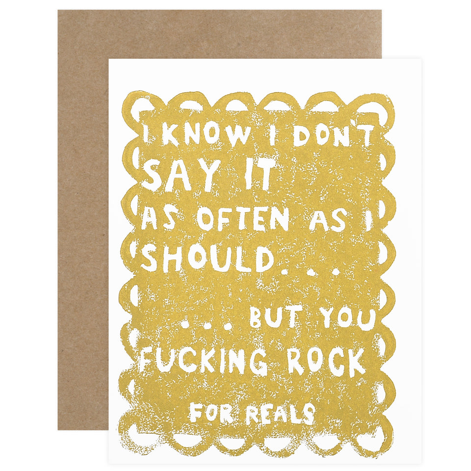 Ghost Academy You Effing Rock Greeting Card