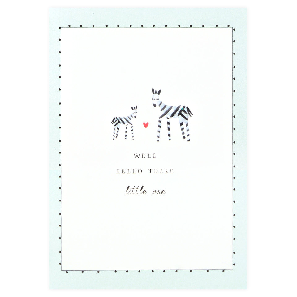 Mr. Boddington's Studio Matching Stripes New Baby Card
