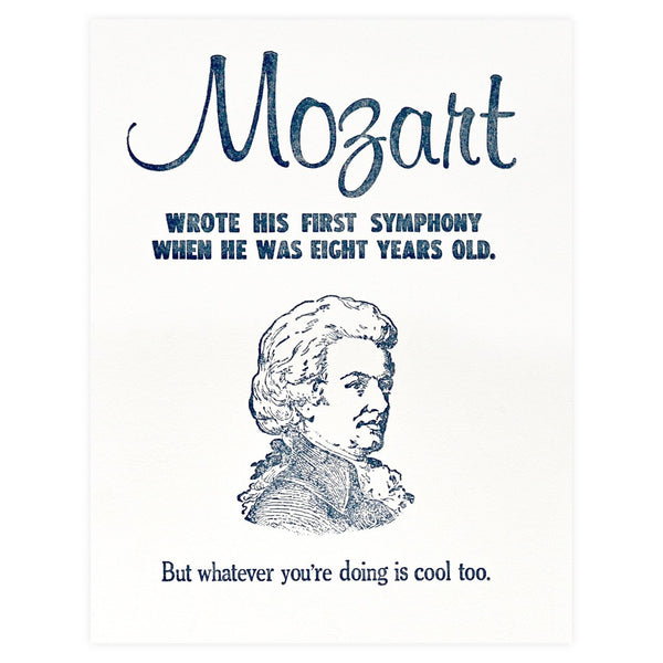 Mozart Birthday Card