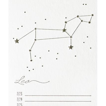 Zodiac Birthday Calendar By Bison Bookbinding & Letterpress - 3