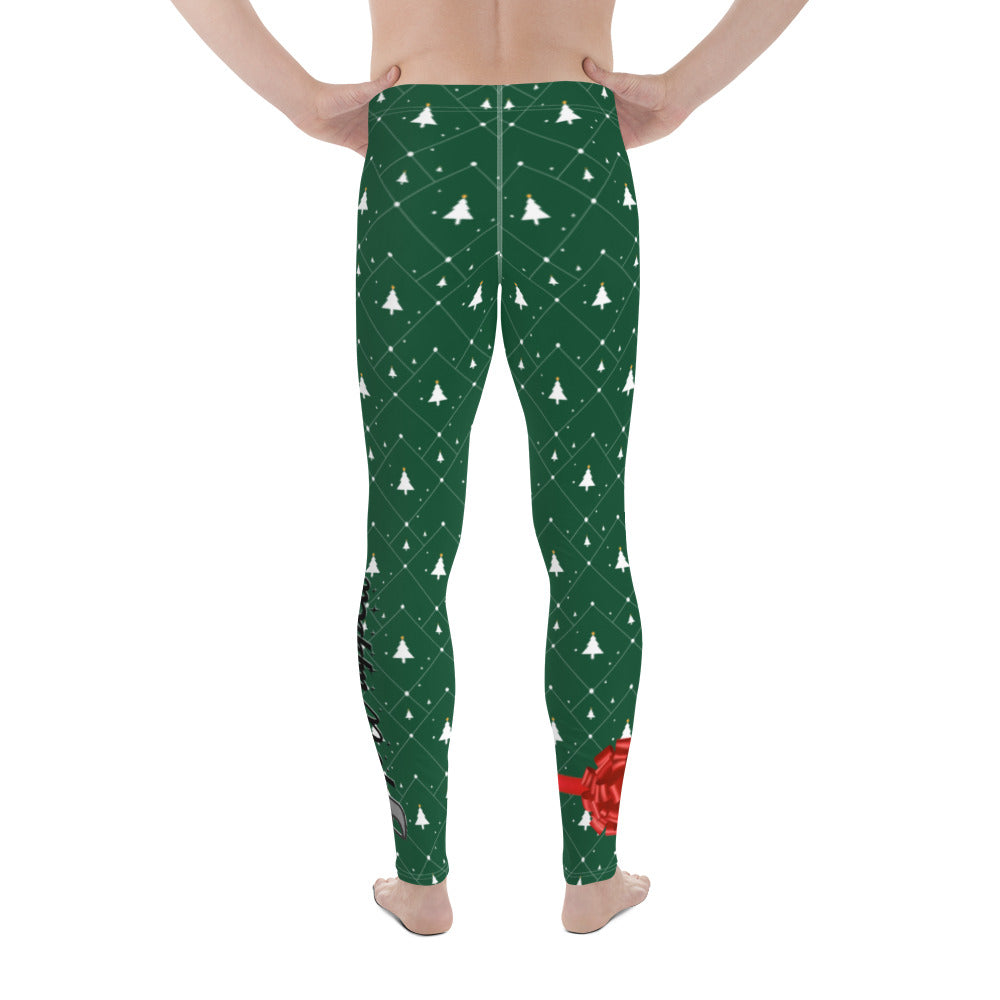 "Gift Wrapped "" 'Twas The Night Before Open Mat "" Men's Leggings"