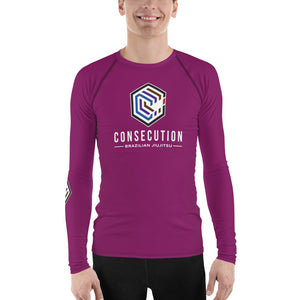 Burgundy Consecution C Rash Guard