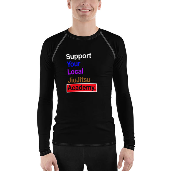 Support Your Local JiuJitsu Academy Rash Guard