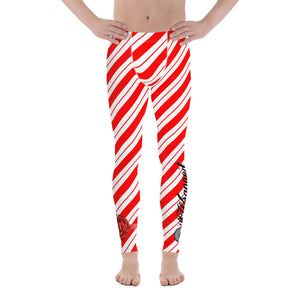 "Gift Wrapped ""Candy Cane Calf Crush"" Men's Leggings"
