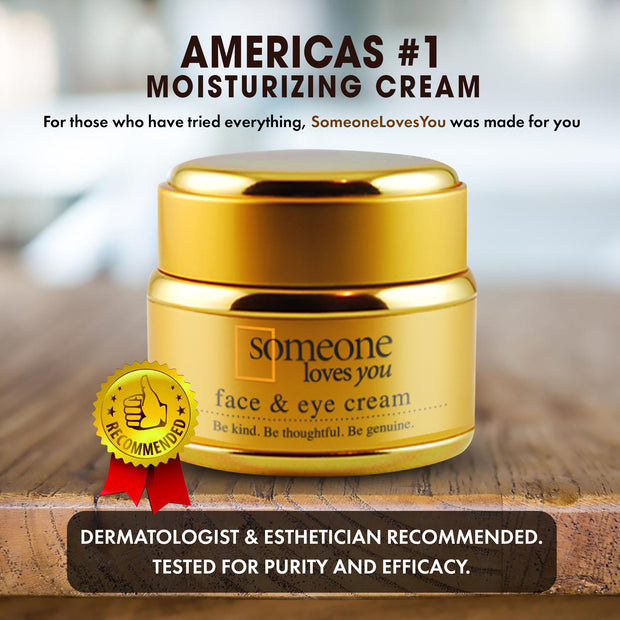 Face & Eye Cream - Moisturizing Cream for Dry, Aging Skin - Plant Based, Instant Lasting Relief