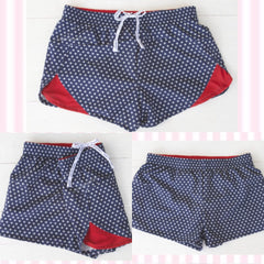 Jadelynn Brooke Red, White & Blue Stars Patriotic Athletic Shorts - Haute Stuff Boutique