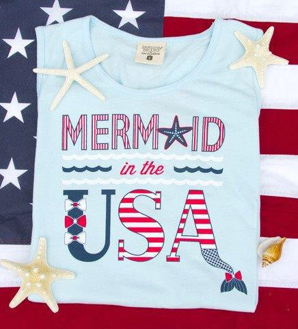 Jadelynn Brooke Mermaid In The USA Tank