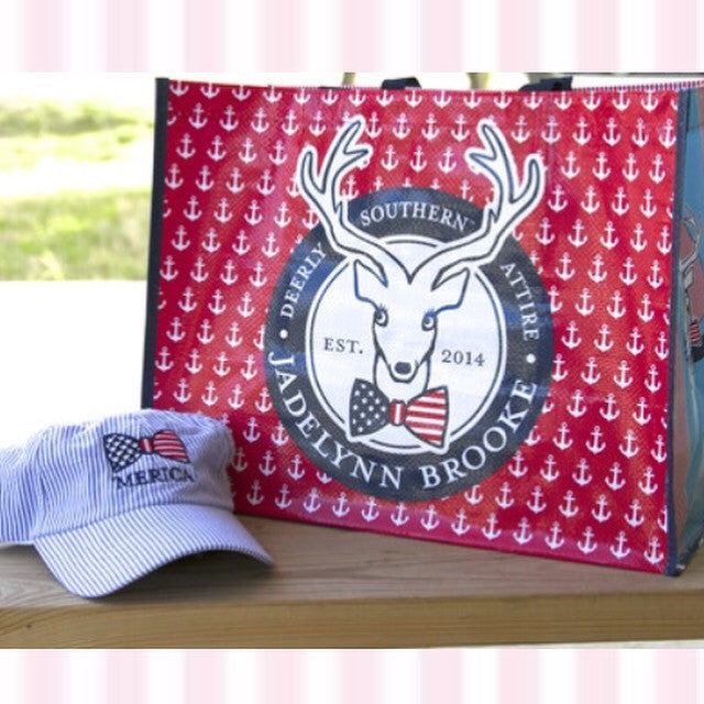 Jadelynn Brooke Patriotic Tote Bag - Haute Stuff Boutique
