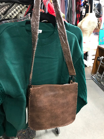 Vegan Leather Crossbody Purse