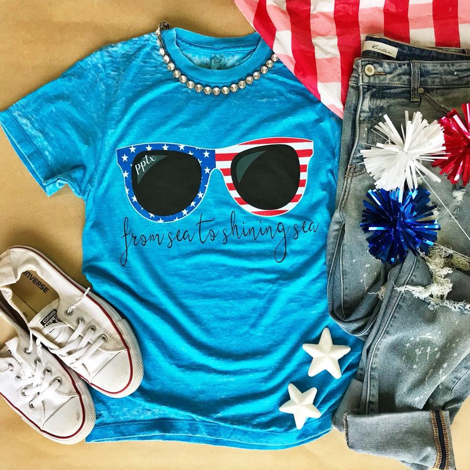 From Sea to Shining Sea Short Sleeve Tee - Haute Stuff Boutique