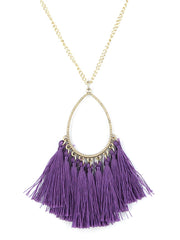 Colorful Tassel Pendant Necklace - Haute Stuff Boutique