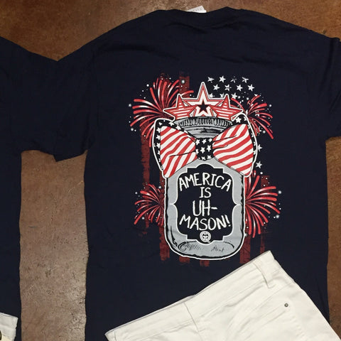 America Is UH-Mason T-Shirt by Girlie Girl Originals