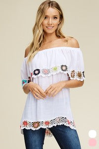 Annabelle Short Sleeve Off The Shoulder Top - Haute Stuff Boutique