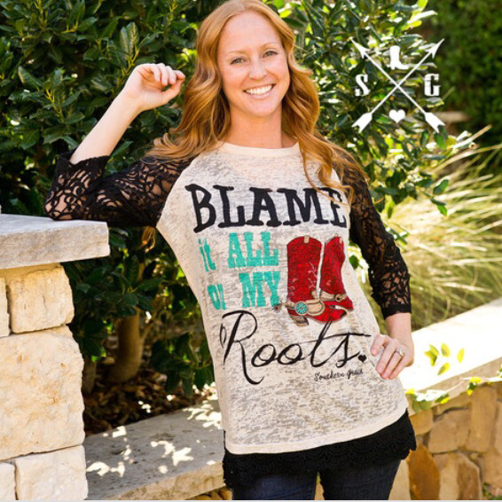 Blame It All On My Roots Top By Southern Grace - Haute Stuff Boutique