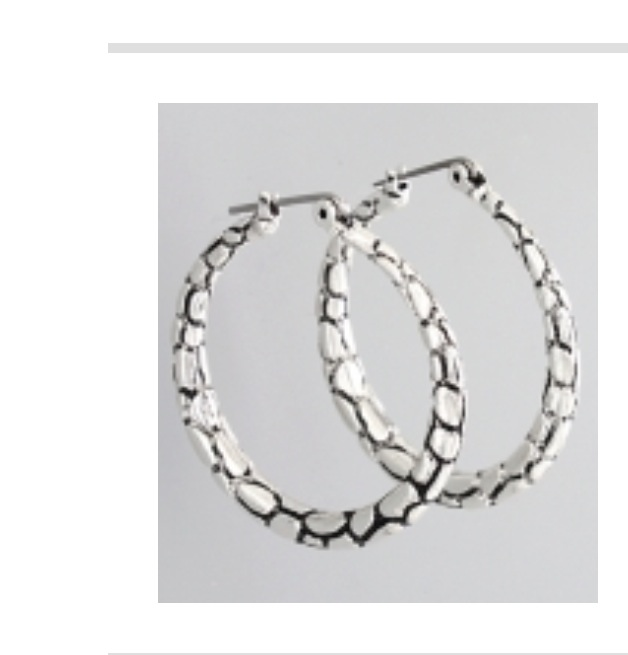 Pebble Hoops - Haute Stuff Boutique