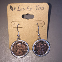 Silver or Gold Edge Penny Earrings - Haute Stuff Boutique