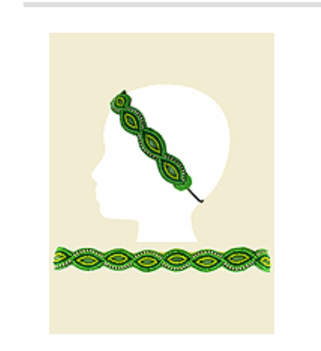 Green Seed Beaded Head Band - Haute Stuff Boutique