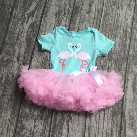 Infant Flamingo Tutu Pettiskirt Outfit
