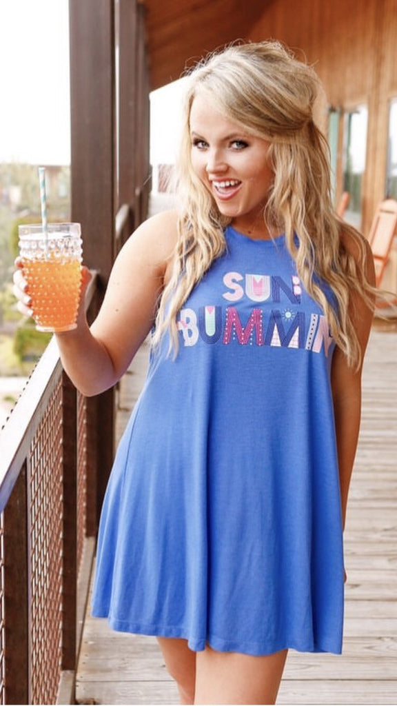 Jadelynn Brooke Sun Bummin Swim Cover / Tshirt Dress - Haute Stuff Boutique