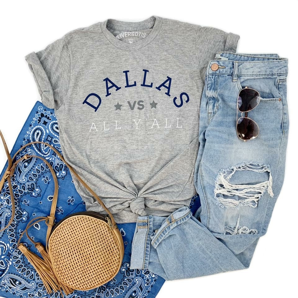 Dallas Vs. All Y'all Short Sleeve Dallas Cowboys Tee - Haute Stuff Boutique