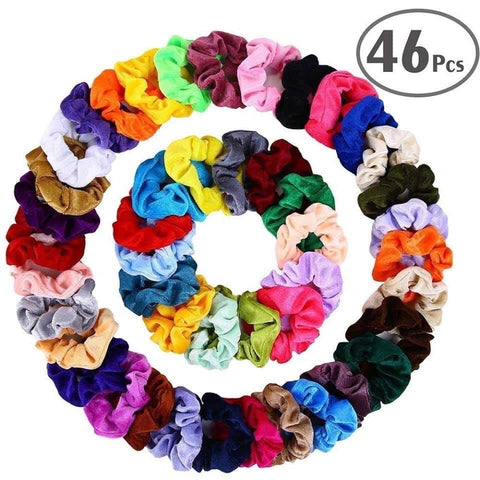 46 pc Velvet Scrunchie Set
