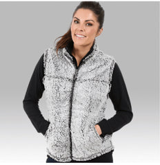 Frosty Grey Sherpa Vest - Regular & Plus Size - Haute Stuff Boutique