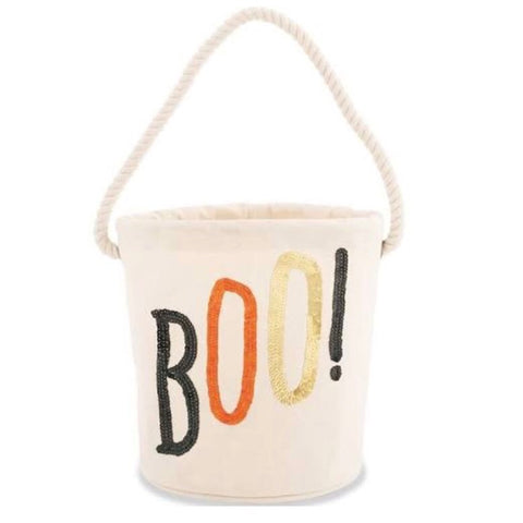 Mud Pie Halloween - Canvas Bucket Tote