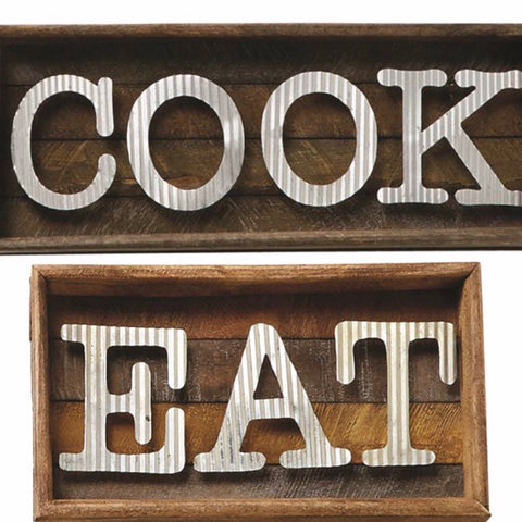 Mud Pie Shadow Box Cook and Eat Wall Hangings